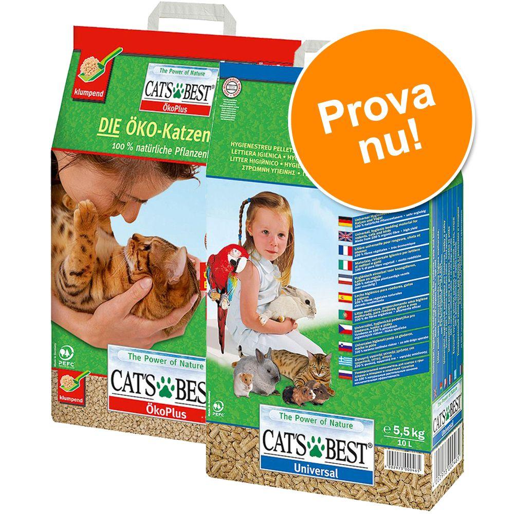 Blandpack: Cat's Best kattsand – (10 l) Öko Plus + (10 l) Universal