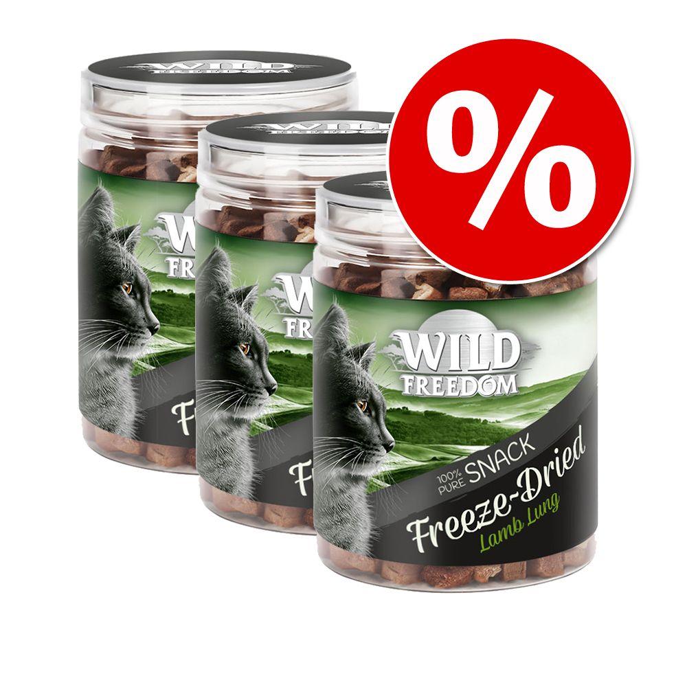 Ekonomipack: Wild Freedom Freeze-Dried Snacks - Nötlever 3 x 60 g