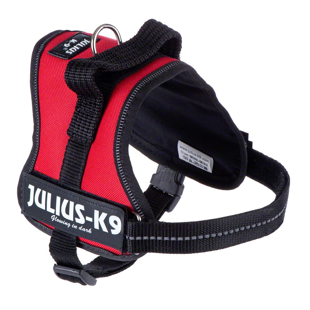 JULIUS-K9 Power Harness Red Mini