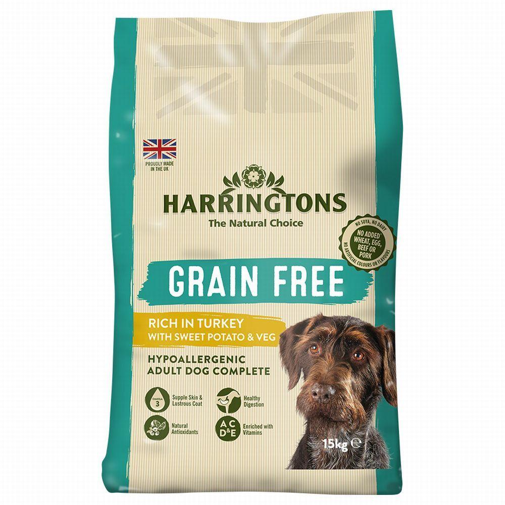 15kg Harringtons Hypoallergenic Grain-Free Dry Dog Food