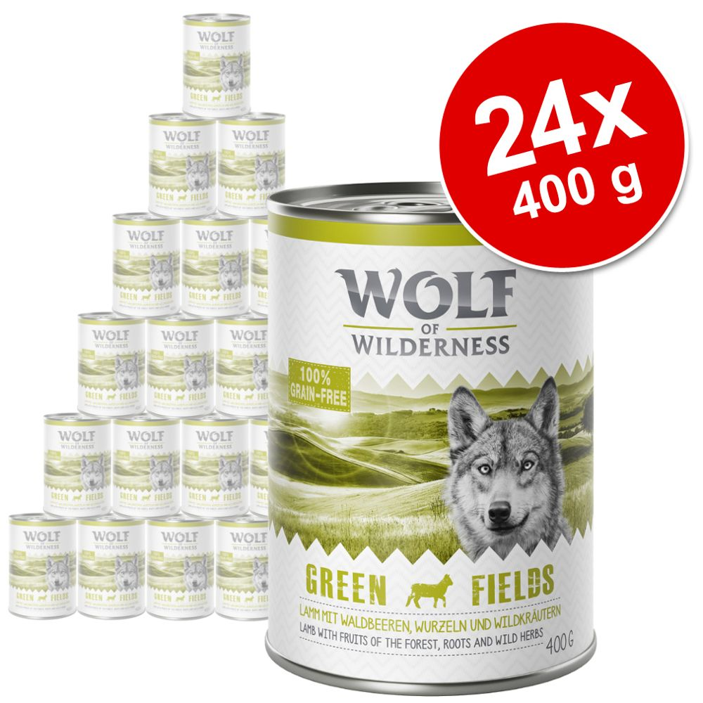 Sparpaket Wolf of Wilderness Adult 24 x 400 g - Mix: The Taste Of