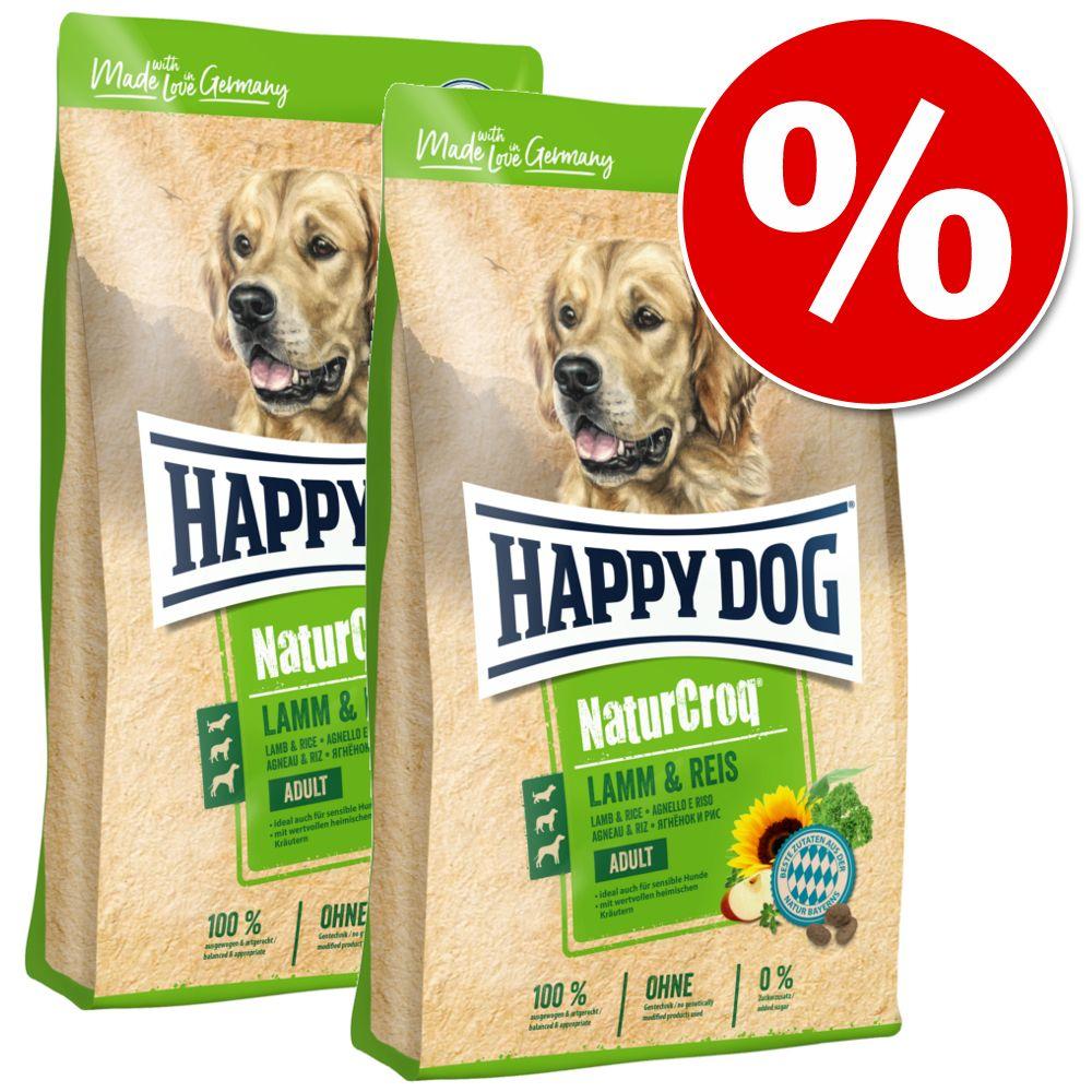 Ekonomipack: 2 stora påsar Happy Dog NaturCroq - Cereal Flakes (2 x 10 kg)