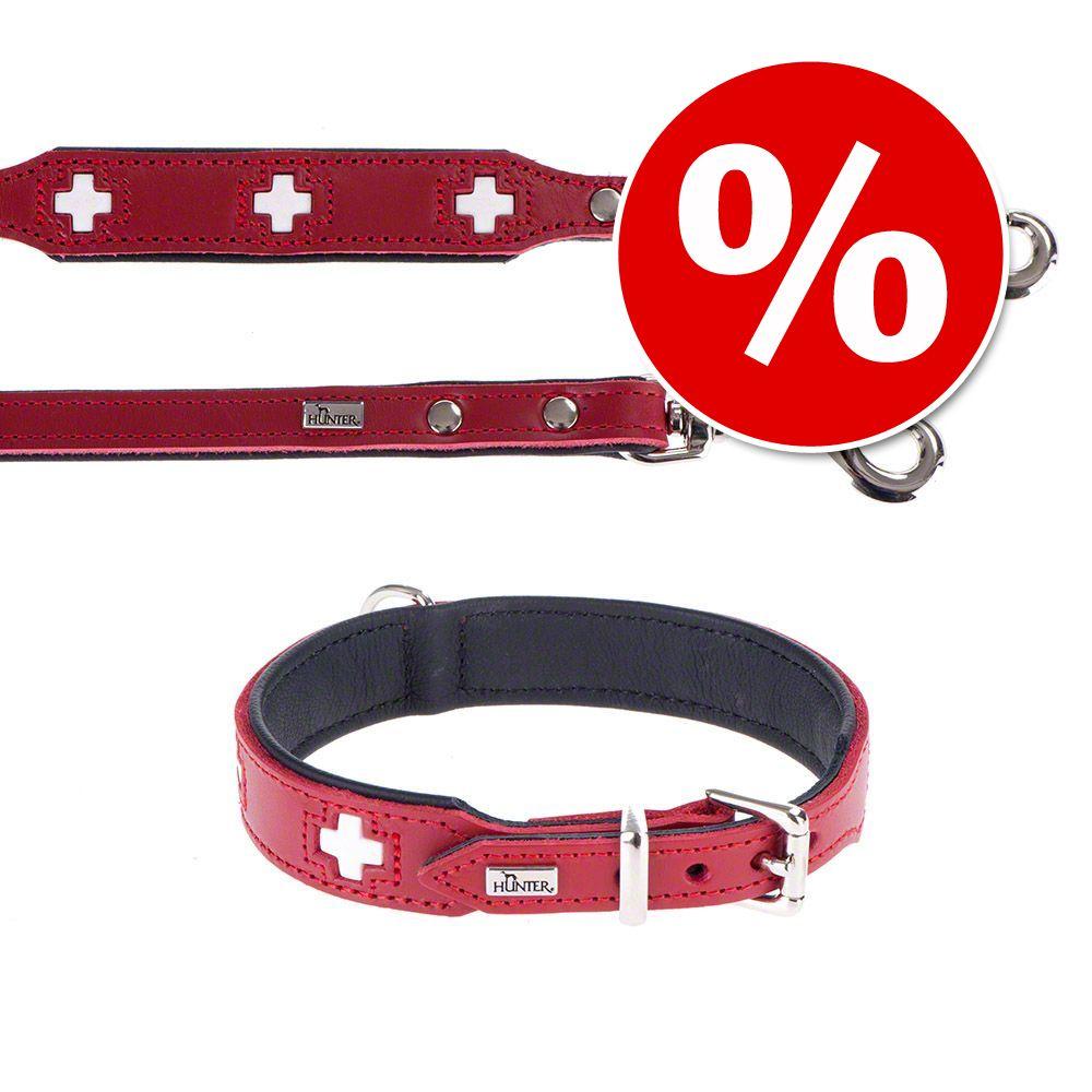 Foto Set collare e guinzaglio - Hunter Swiss - Collare Tg. 60 + guinzaglio 200 cm x 1,8 cm Set in pelle