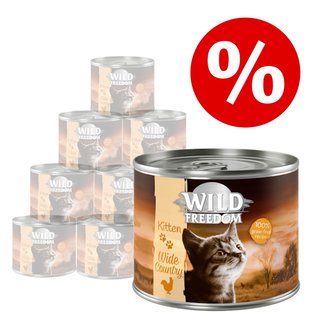 Ekonomipack: 24 x 200 g Wild Freedom Kitten - Blandpack 2 sorter