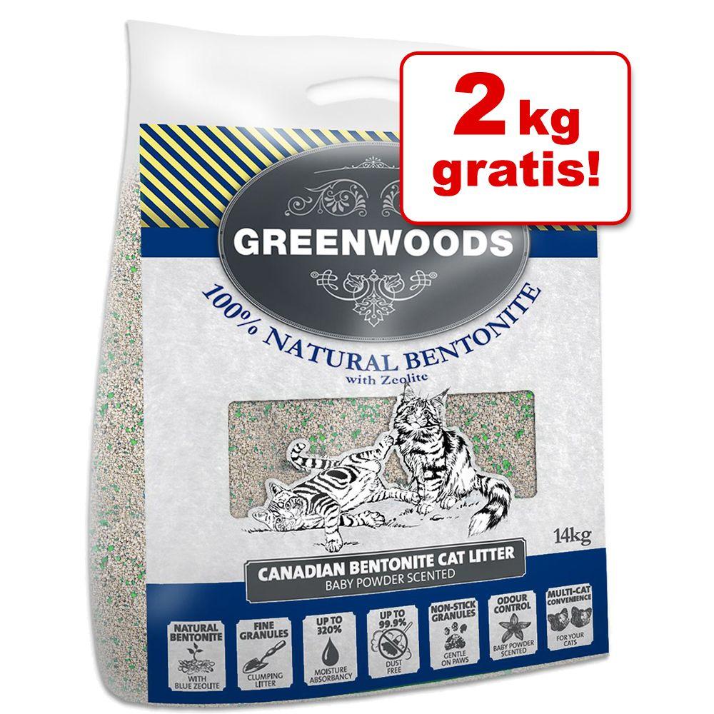 12 kg + 2 kg gratis! Greenwoods Naturton-Klumpstreu 14 kg