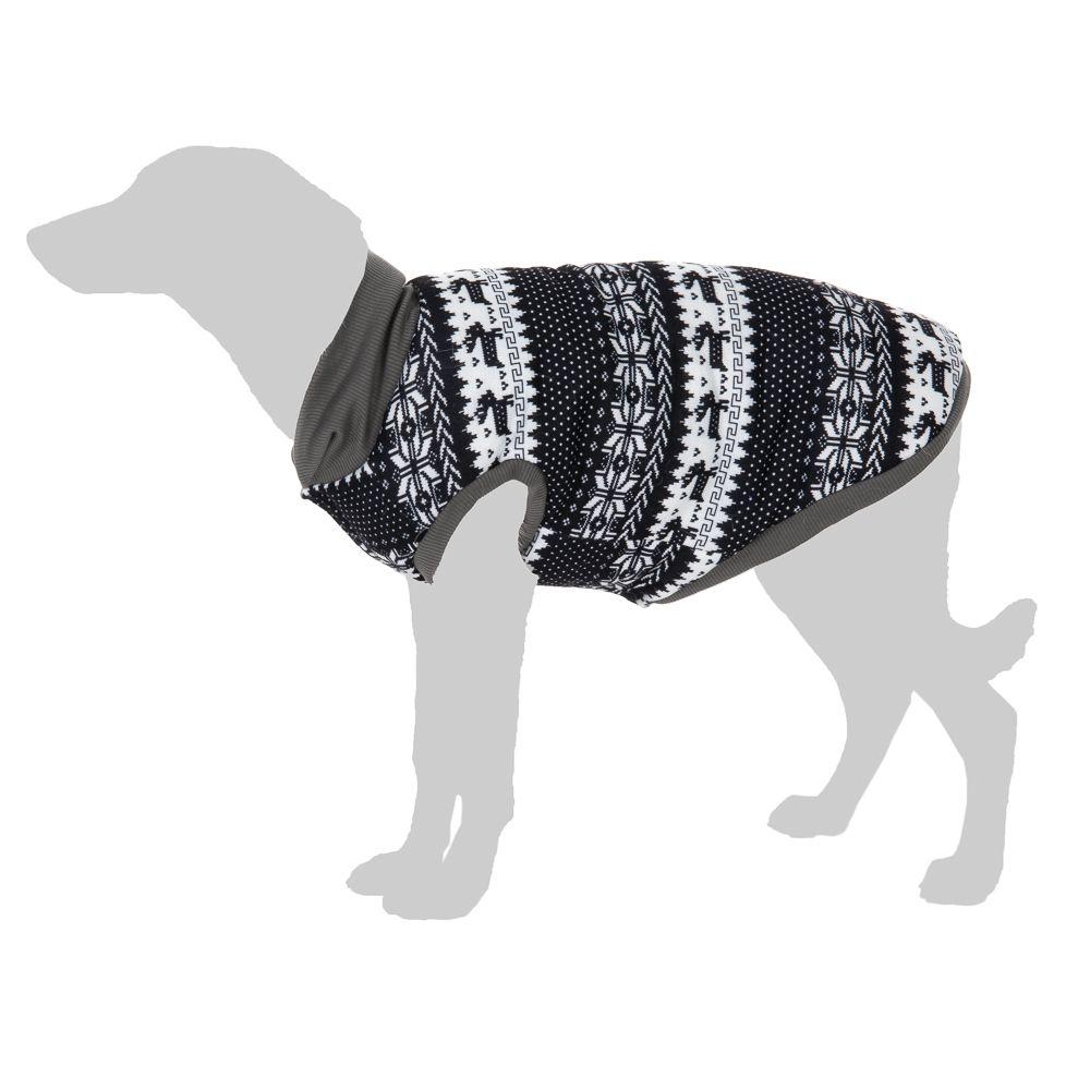 Hundepullover mit Norwegermuster - ca. 25 cm Rückenlänge (Größe S)