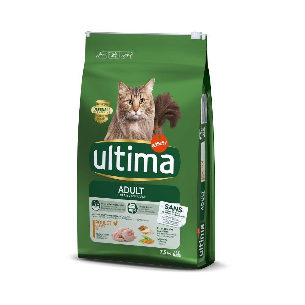Bilde av 6,5 + 1 Kg Gratis! Ultima Tørrfòr Til Katter - Adult Kylling