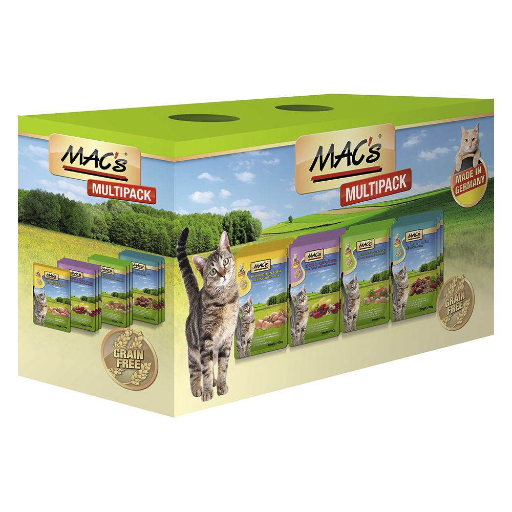 Lot mixte MAC´s 12 x 100 g pour chat - poisson