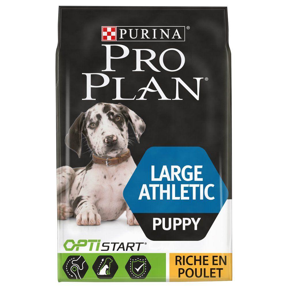 12kg Large Athletic Puppy, poulet PURINA PRO PLAN - Croquettes pour chien