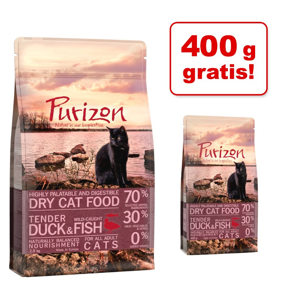 2,5 kg + 400 g på köpet! 2,9 kg Purizon torrfoder katt - Kitten Chicken & Fish