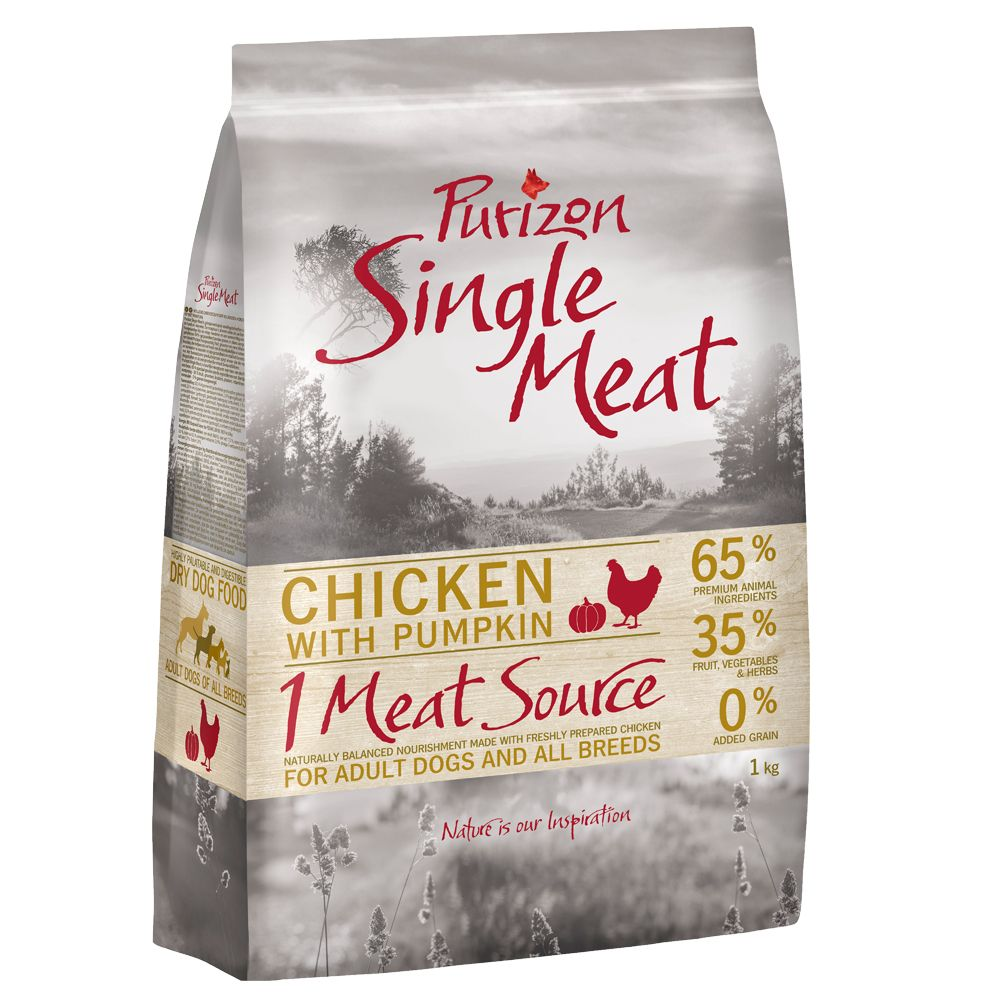 Purizon Single Meat Adult – 1kg + 1kg Free!* - Chicken with Pumpkin (2kg)