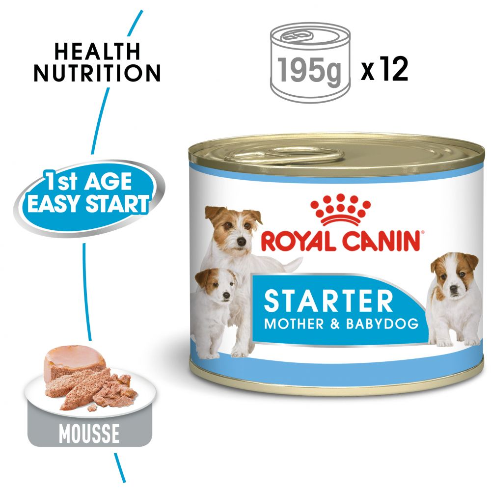 Mother & Babydog Starter Mousse Royal Canin Wet Dog Food