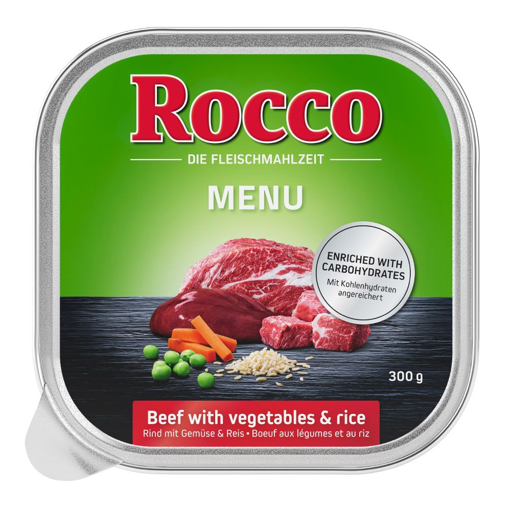 Rocco Menu Trays 9 x 300g - Beef, Poultry, Vegetables & Rice