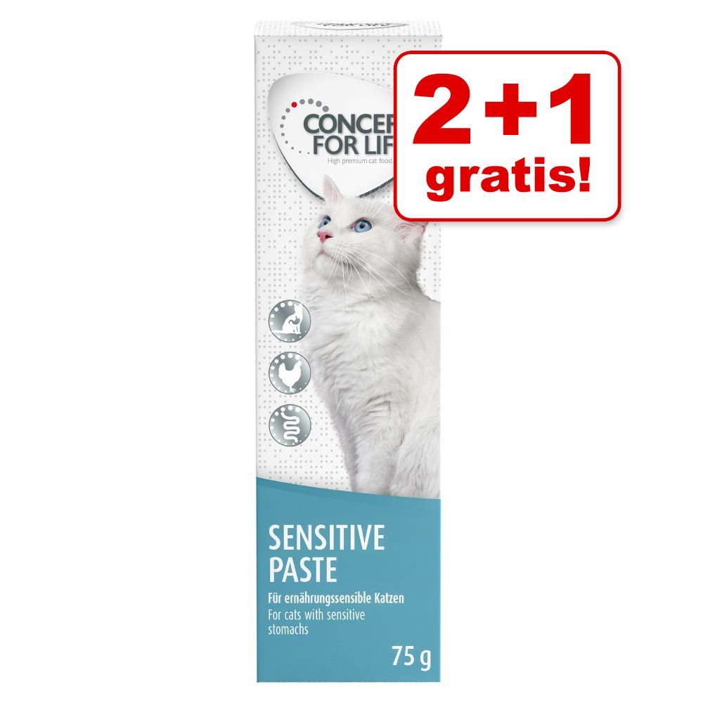 2 + 1 på köpet! 3 x 75 g Concept for Life Paste - Sensitive