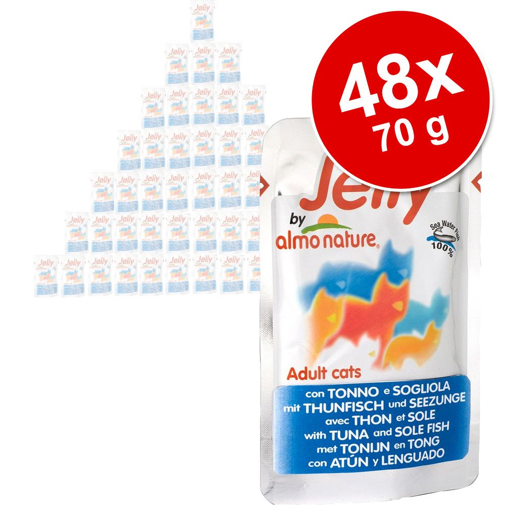 Image of Super-Sparpaket Jelly Pouch by Almo Nature 48 x 70 g - Huhn
