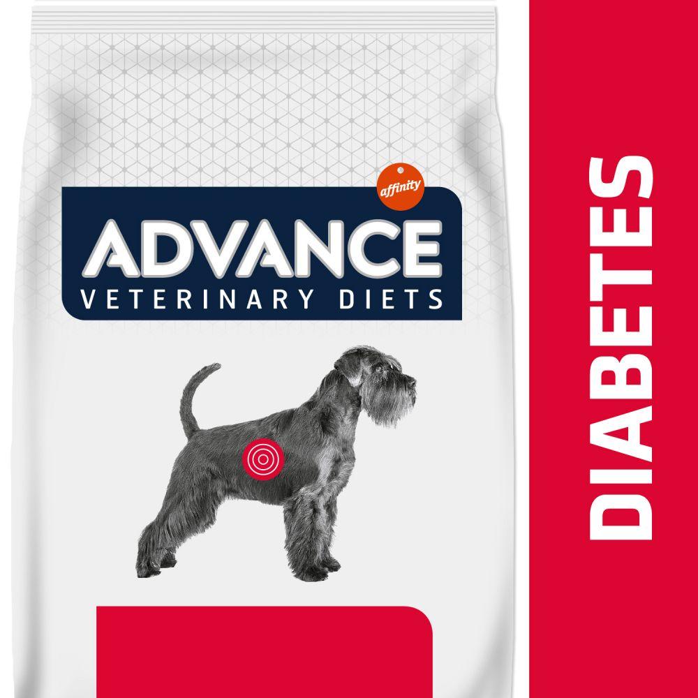 2x12kg Diabetes Colitis Advance Veterinary Diets Croquettes pour chien