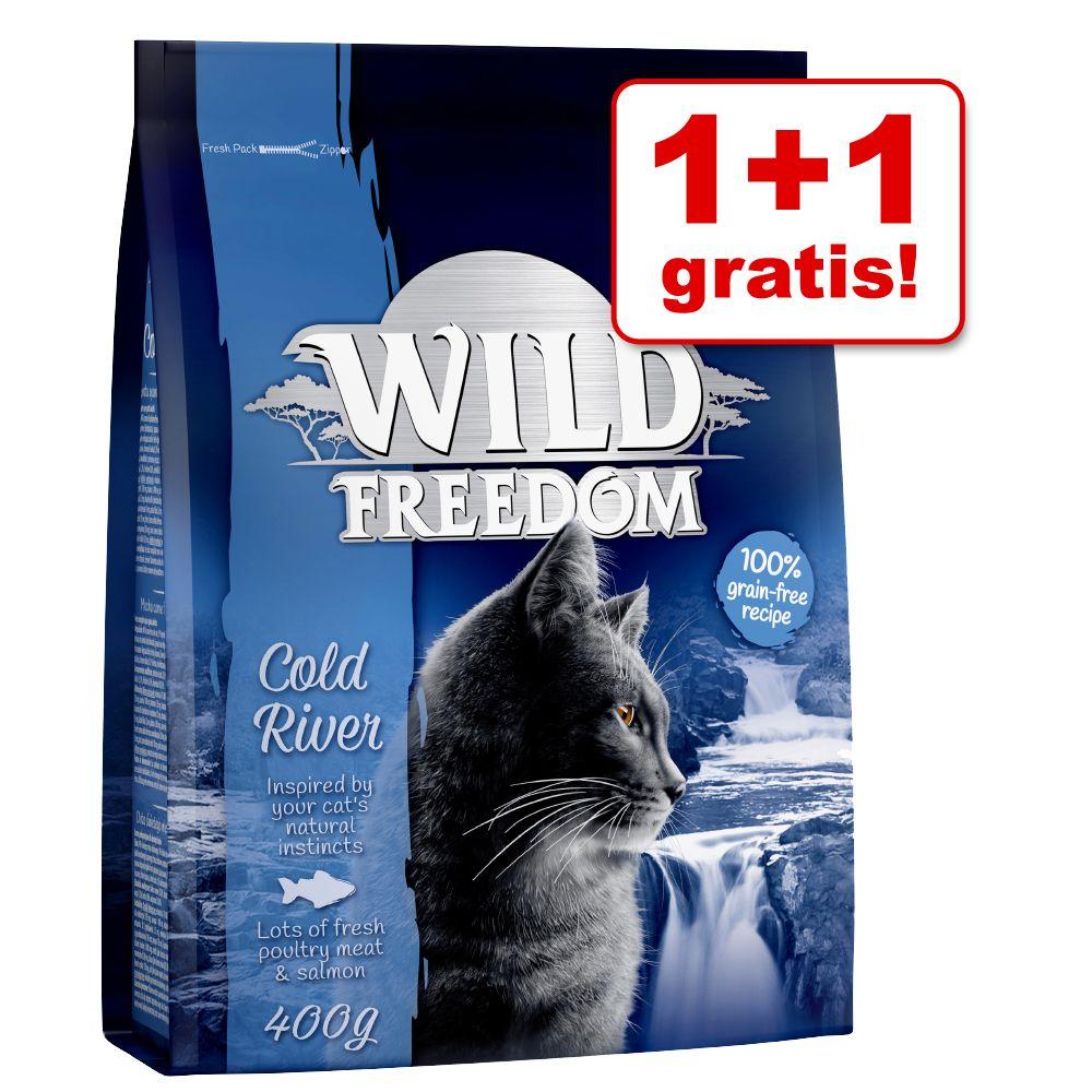 1 + 1 på köpet! 2 x 400 g Wild Freedom torrfoder - Cold River - Salmon