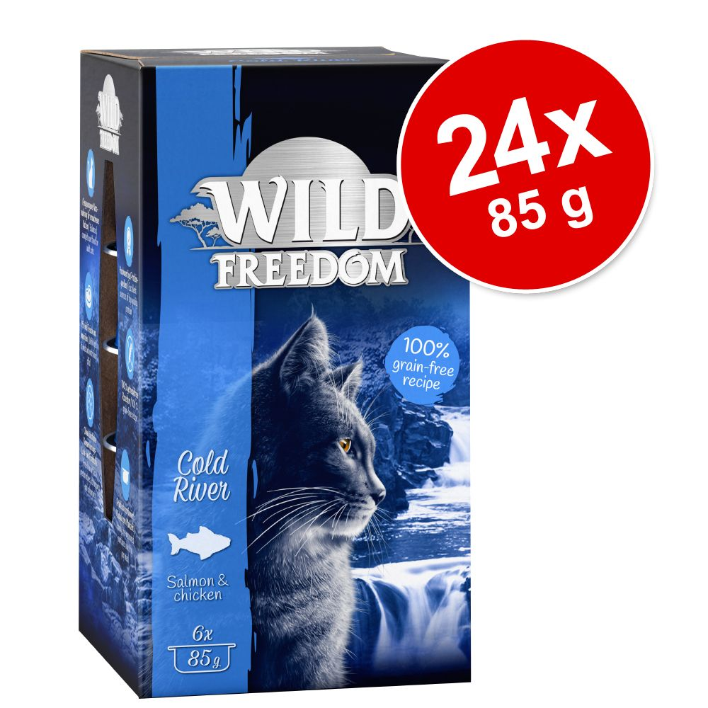 Ekonomipack: Wild Freedom Adult 24 x 85 g - Wide Country - Chicken Pure