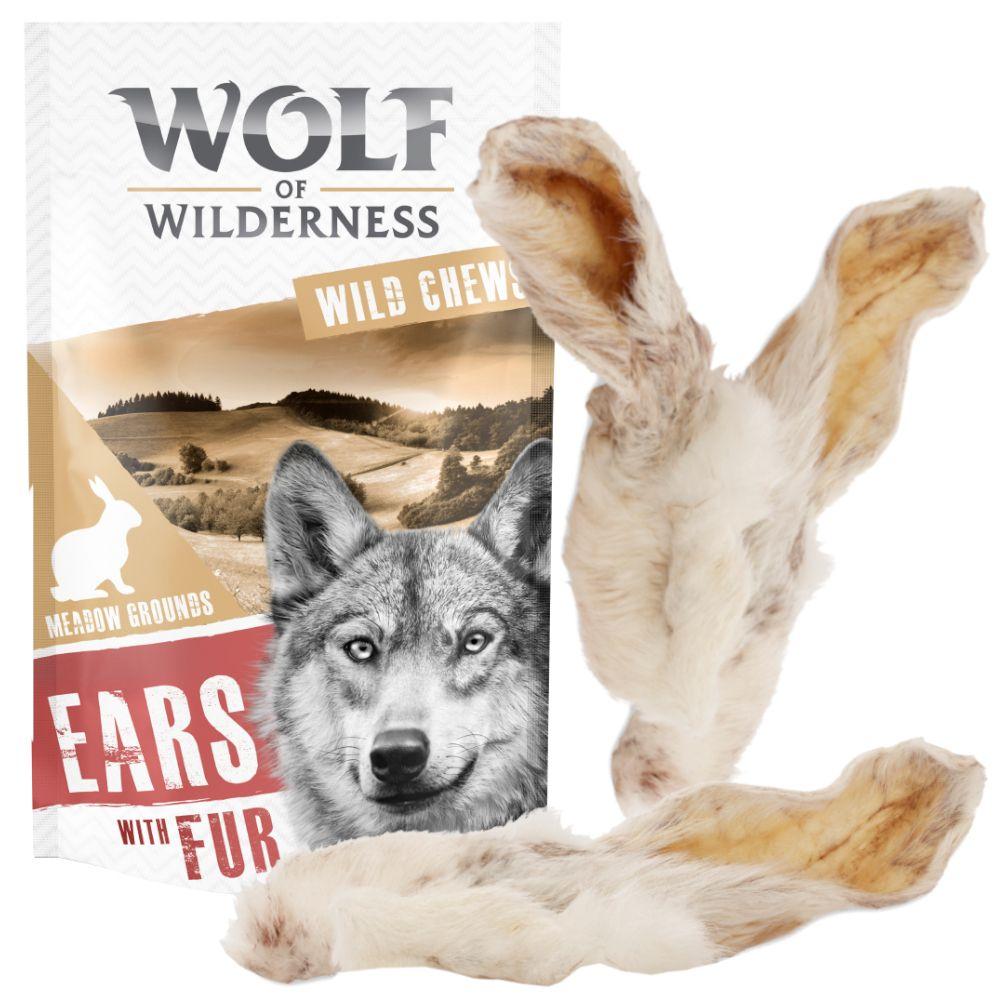 Wolf of Wilderness - Kaninchenohren mit Fell - 800 g (40 Stk)