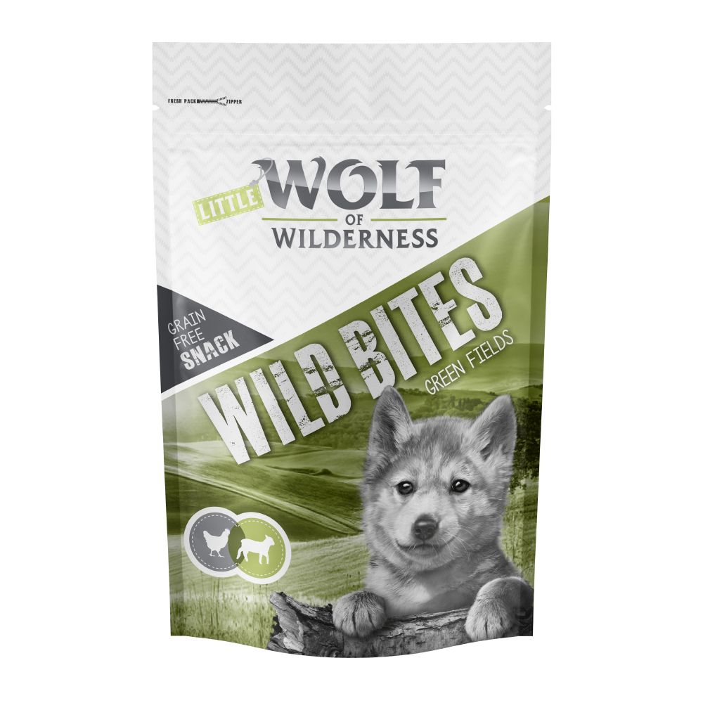 180g Lamb&Chicken Wild Bites Junior Green Fields Little Wolf of Wilderness Dog Snacks