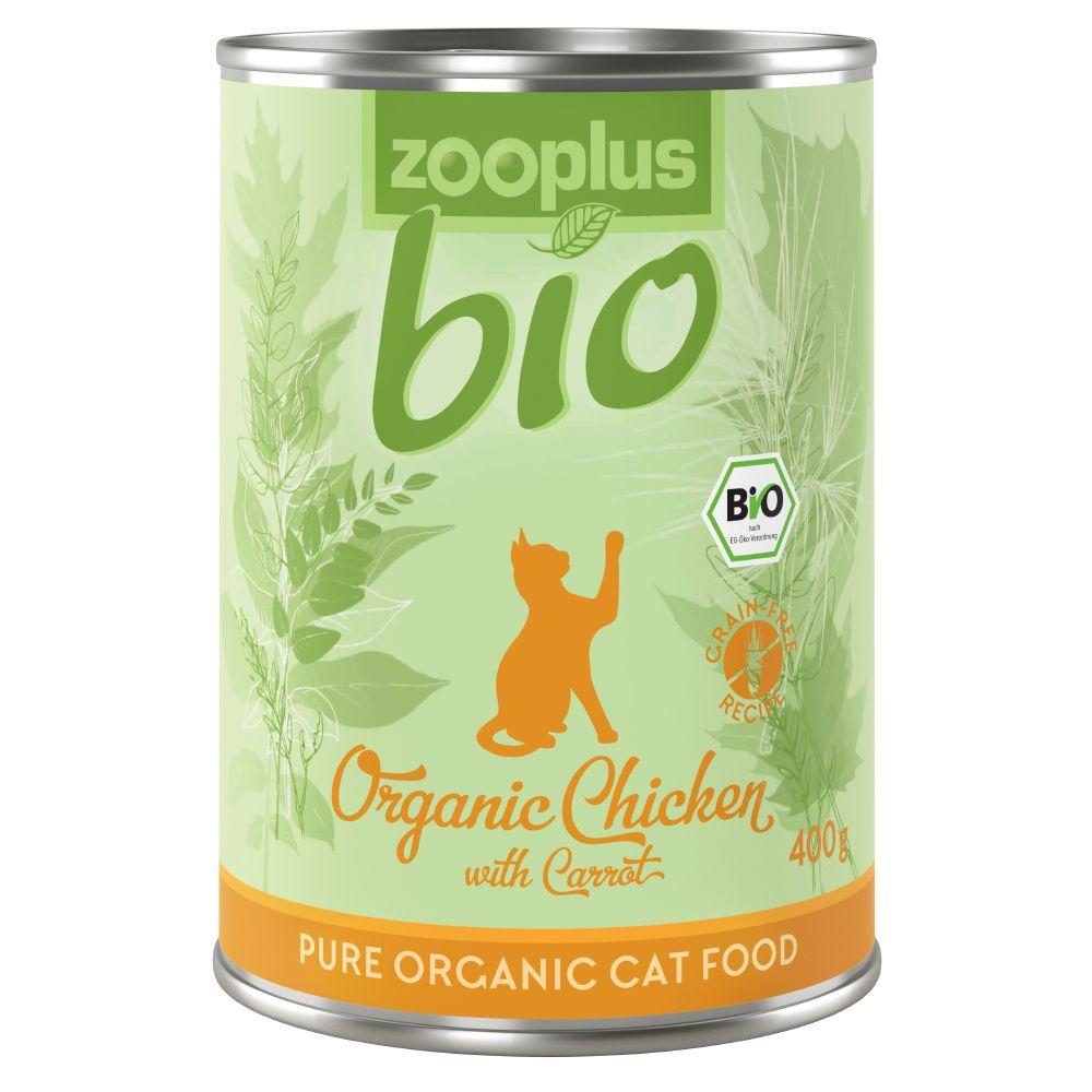 zooplus Bio Eko-kyckling med morötter - 6 x 400 g burk