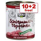 800g Grau Gourmet Grain-Free - 10 + 2 Free!* - Poultry & Ocean Fish (12 x 800g)