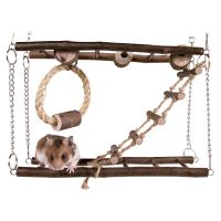 Wood Hanging Bridge for Small Pets - 27 x 17 x 7 cm (L x W x H)