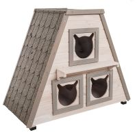 Madeira Cat House - 90 x 50 x 75 cm (L x W x H)