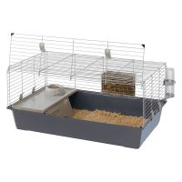 Ferplast Rabbit and Guinea Pig Cage 100 - Grey: 95 x 57 x 46 cm (L x W x H)