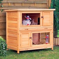 Trixie Natura Small Animal Hutch - 116 x 65 x 111 cm (L x W x H) (price includes bulk fee)