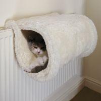 Rosewood Luxury Cat Tunnel - Cream - Diameter 23 x L 45 cm