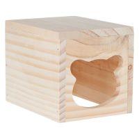 Cosy Hamster Wooden Den - 15 x 12 x 12 cm (L x W x H)