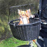 Trixie Black Bicycle Basket - 50 x 35 x 41 cm (L x W x H)