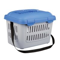 Trixie Midi-Capri Pet Carrier - Light Grey & Blue - 44 x 33 x 32 cm (L x W x H)