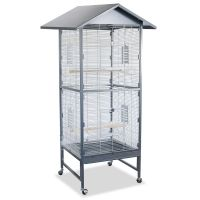 Montana Villa Casa 60 Aviary with Pitched Roof - Antique / Platinum: 78 x 75 x 167 cm (L x W x H)