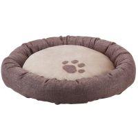 Basic Round Bed - Brown / Beige - Diameter 50cm