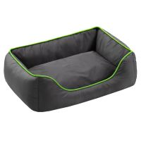 Honeycomb Dog Bed Grey & Green - 90 x 65 x 30 cm (L x W x H)
