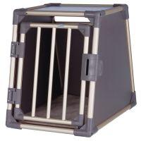Trixie Aluminium Dog Crate - Grey - Size M: 59 x 84 x 63 cm (L x W x H)