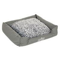 Oekobed Dog Bed in plush Leopard print - Size L: 120 x 95 x 28 cm (L x W x H)