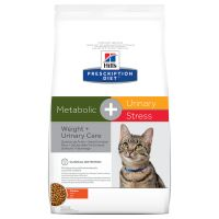 Hill´s Prescription Diet Feline Metabolic + Urinary Stress Kattenvoer met Kip Dubbelpak: 2 x 4 kg