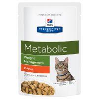 12 x 85 g Hill's Prescription Diet Feline Metabolic Chicken Kattenvoer