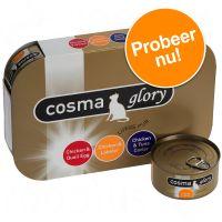 Cosma Glory Probeerpakket Kattenvoer 6 x 85 g met 3 Smaken