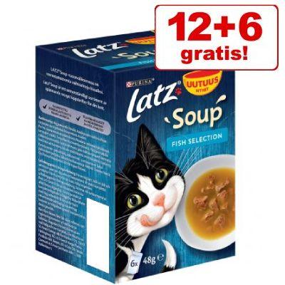 12 + 6 på köpet! 18 x 48 g Latz Soup - Fish Selection