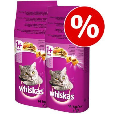 20 kg + 8 kg kaupan päälle! 28 kg Whiskas kissanruoka - 1+ Beef
