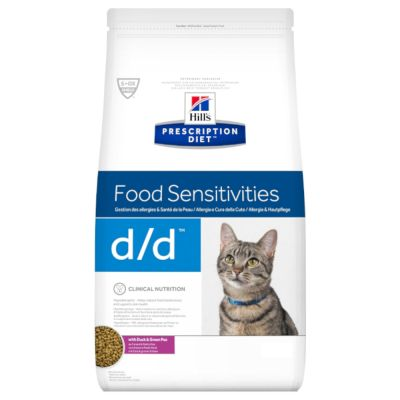 Hill's Prescription Diet d/d Food Sensitivities - ankka & herne - säästöpakkaus: 2 x 4 kg