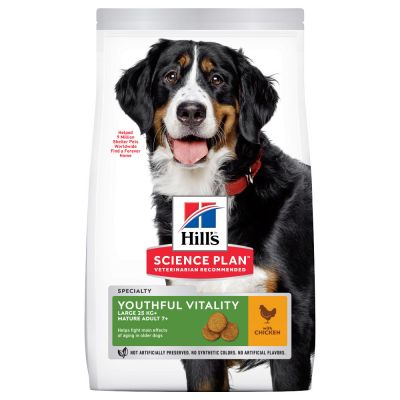 Hill's Science Plan Mature Adult 7+ Youthful Vitality Large Breed Chicken - säästöpakkaus: 2 x 14 kg