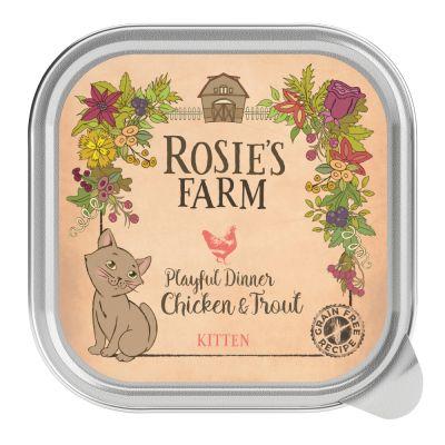 Rosie's Farm Kitten 16 x 100 g para gatos - Pollo y trucha