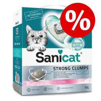 10 l Sanicat Strong Clumps kissanhiekka erikoishintaan! - 10 l