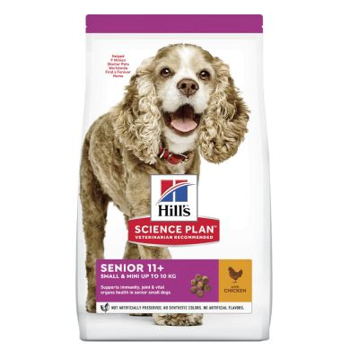 Hill's Science Plan Senior 11+ Small & Mini Chicken - 1,5 kg