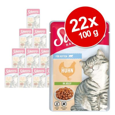 Schmusy Ragout Kitten in Jelly 22 x 100 g - kana